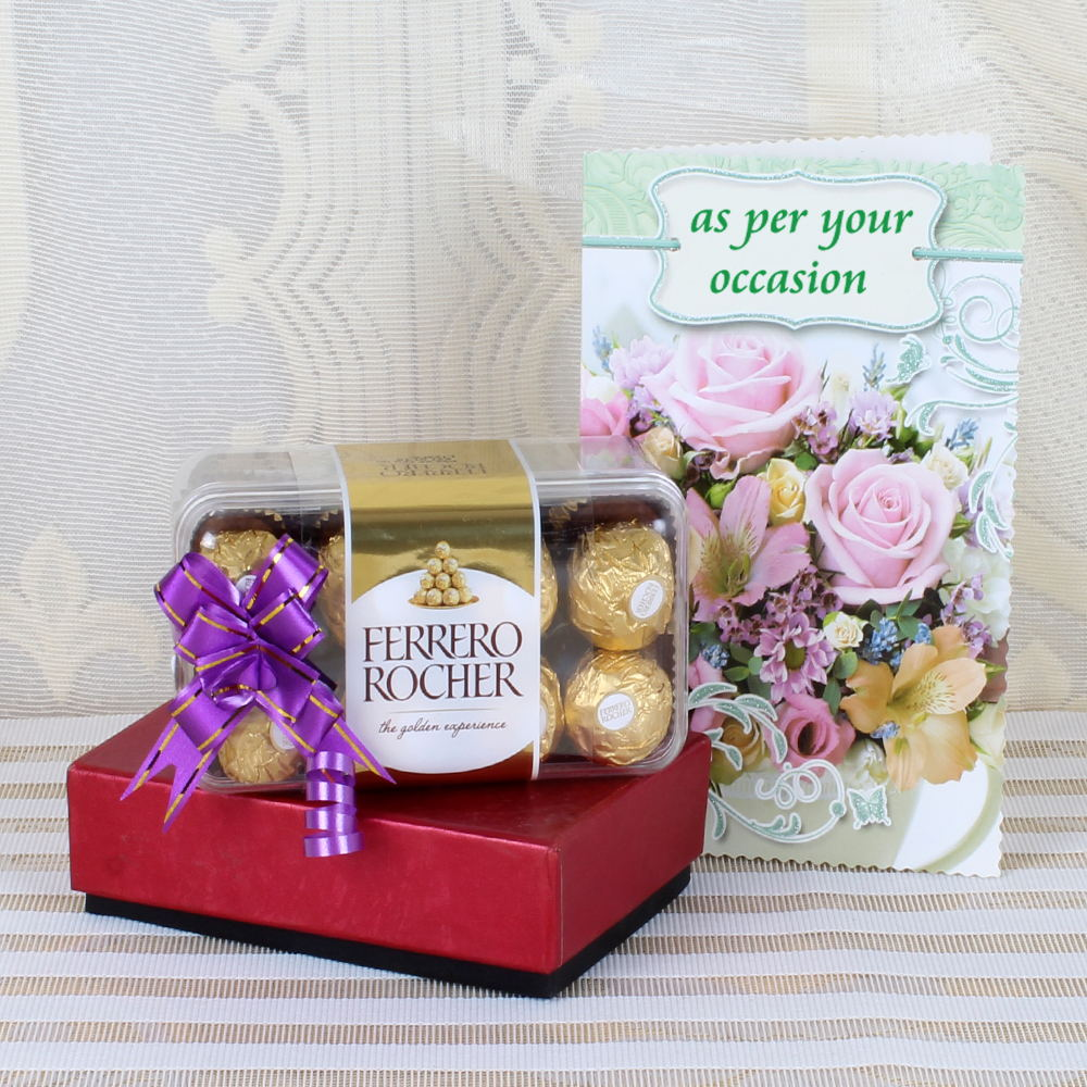 Ferrero Rocher with Greeting Card Online