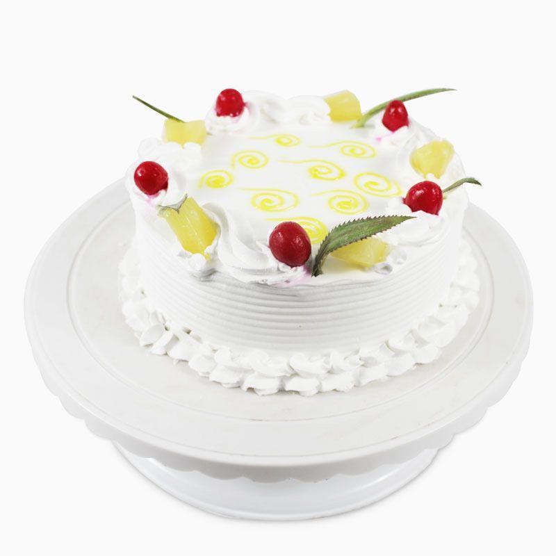 Round Pineapple Cherry Delight Cake