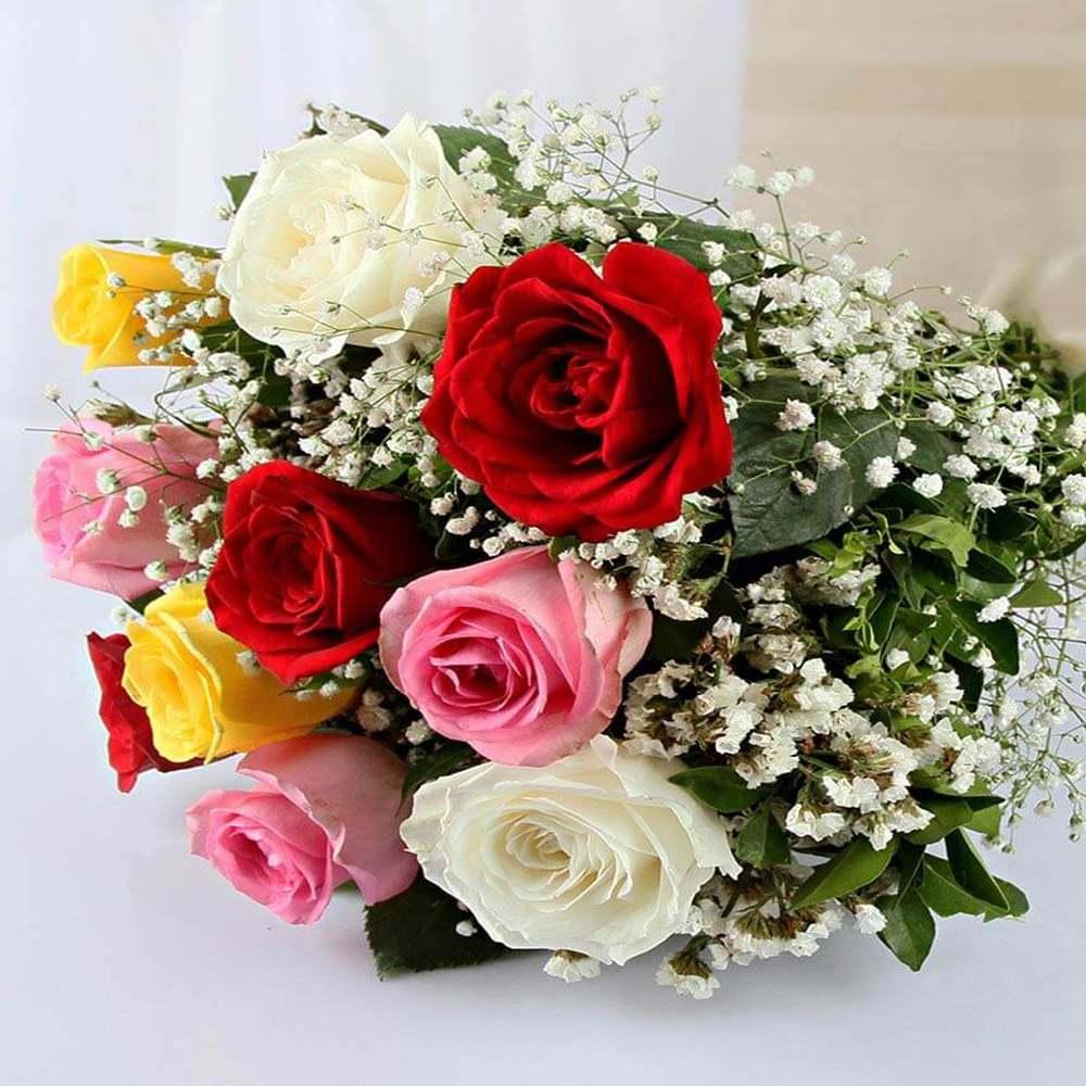 Ten Mixed Roses Bouquet