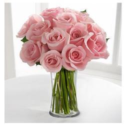 10 Light Pink Roses In Vase for Pune