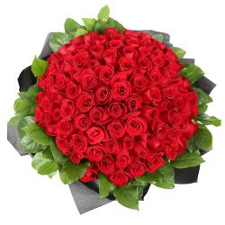 100 Red Roses Bouquet for Madras