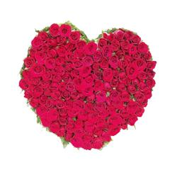 100 Red Roses In Heart Shape A Basket for Cuttack