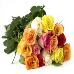15 Mix Roses Bouquet for Hyderabad