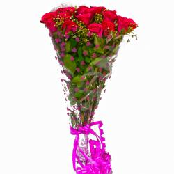 15 Red Roses Bouquet for Delhi