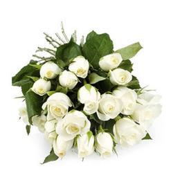 18 White Roses for Agra