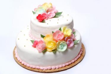 2 Tier Vanilla Cake for Chennai