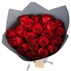 20 Red Roses Bouquet for Delhi