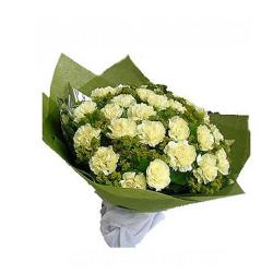 20 Yellow Carnations Bouquet for Ghaziabad