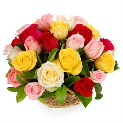 25 Mix Roses Arrangement for Coimbatore