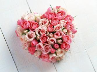 40 Pink Roses Heart Shape Arrangement for Jaipur