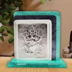 Acrylic Frame Stand with Silver Ganesh for Moradabad