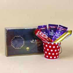 Al alwani Dates box with Assorted Chocolate for Hospet