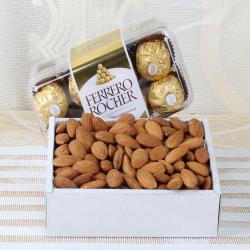 Almond Treat with Ferrero Rocher Chocolate for Baroda