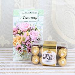 Anniversary Card with Ferrero Rocher Box for Bhopal