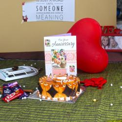 Anniversary Sweet Eggless Cake Treat for Chandigarh