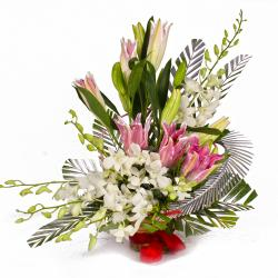 Artistic Creativity Floral Basket for Manipal