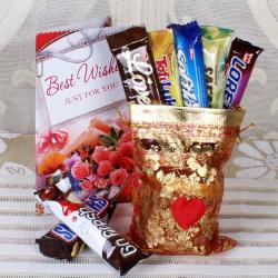 Assorted Imported Bars with Greeting Card Online for Noida