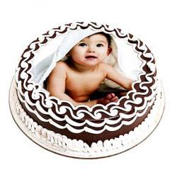 Baby Photo Chocolate Cake for Agra