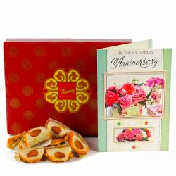 Badam Tacos Sweet with Anniversary Card for Chennai