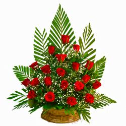 Basket of 20 Red Roses for Bangalore