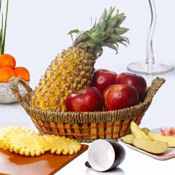 Basket of Healthy Fruits for Moradabad