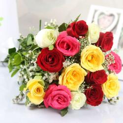 Beautiful Mix Roses Bouquet for Bhopal