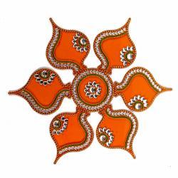 Big Floor Acrylic Artificial Rangoli for Chandigarh