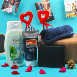 Bio Care Gift Hamper with Wallet For Him for Ahmedabad