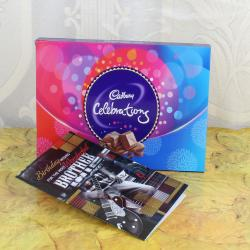 Birthday Card for Best Brother with Cadbury Celebration Box for Hospet