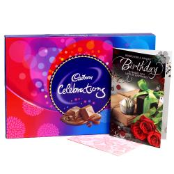 Birthday Card With Cadbury Celebration Box for Hospet