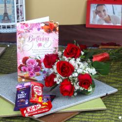 Birthday Gift Token with Chocolates for Bhopal