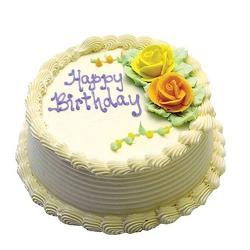 Birthday Pineapple Cake for Mathura