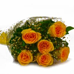 Birthday Special Yellow Roses Bunch for Vasco Da Gama