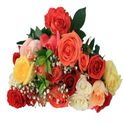 Bouquet of 22 Mix Roses for Delhi
