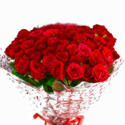 Bouquet of 50 Red Roses for Ahmedabad