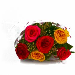 Bouquet of Colorful Roses for Hospet