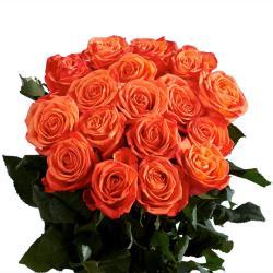 Bouquet of Fresh 35 Orange Roses for Kakinada
