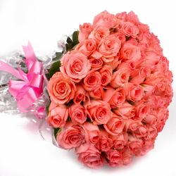 Bouquet of Sixty Pink Roses for Asansol