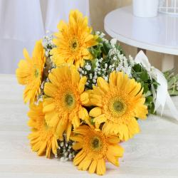Bouquet of Yellow Gerberas for Vasco Da Gama