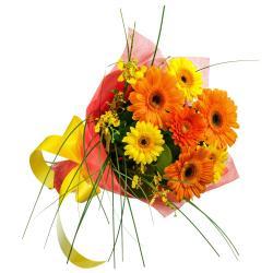 Bright Color Gerberas Bouquet for Chennai