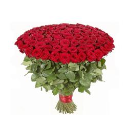 Bunch of 100 red roses for Raichur
