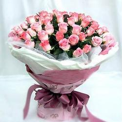 Bunch of 50 pink roses for Dombivli