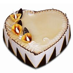 Butter Scotch Heart Shape Cake for Hyderabad