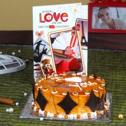 Butterscotch Cake with Love Greeting Card for Raichur