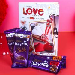 Cadbury Dairy Milk Chocolates with Greeting Card for Belgaum