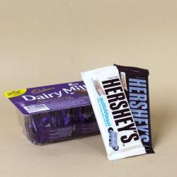 Cadbury Dairy Milk Miniatures Box with Hersheys Chocolates for Kakinada