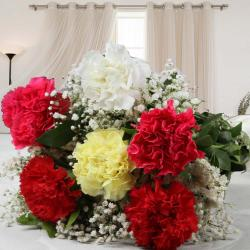 Charming Colorful Carnations Bouquet