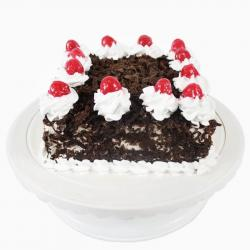 Cherry Eggless Square Black Forest Cake for Chandigarh