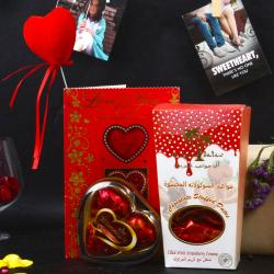 Chocolate Stuffed Dates and Wimmy Heart Shape Chocolate Love Combo for Asansol