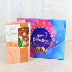 Congratulations Greeting Card with Cadbury Celebration Box for Kolkata